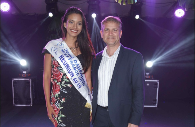 Miss Réunion et Olivier Rivière