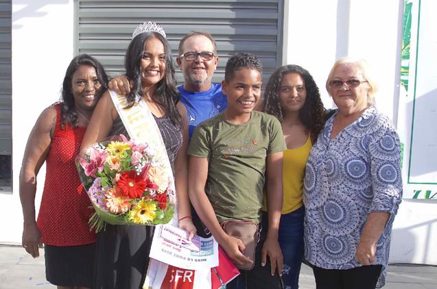 Audrey avec sa famille