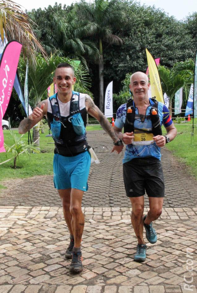 Mathieu et Joël ou quand deux cousins bouclent leur 53 km main dans la main