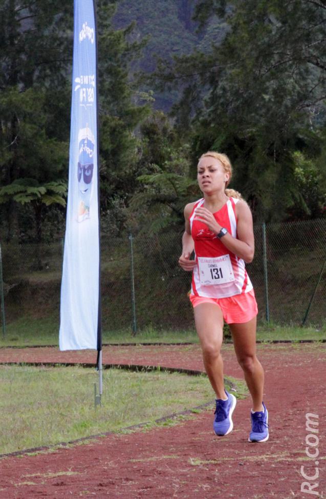 Carmen Trebel, 2ème de la course, chronomètrée en 18' 11''