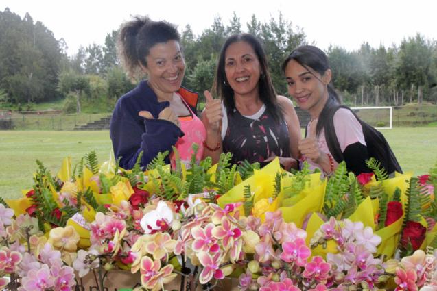 Danièle Dijoux, Michelle Taraconat et Chloë Mouniama, pour leur toute première fois aux Foulées Féminines