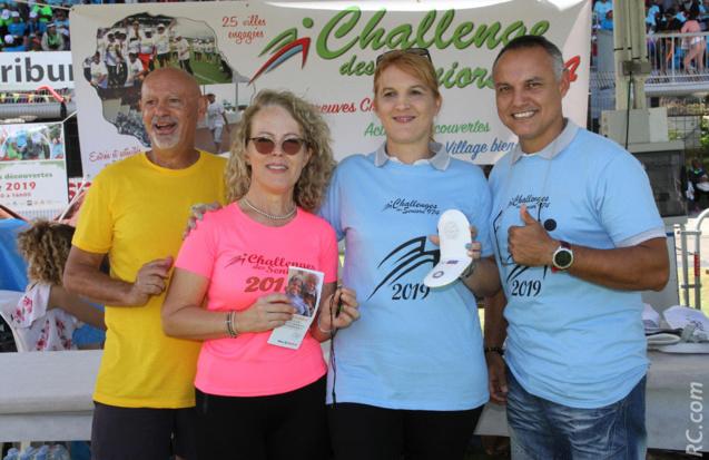Philippe Fontaine et son épouse Brigitte, Alexandra Gardon et son collègue de Allianz-Assistance