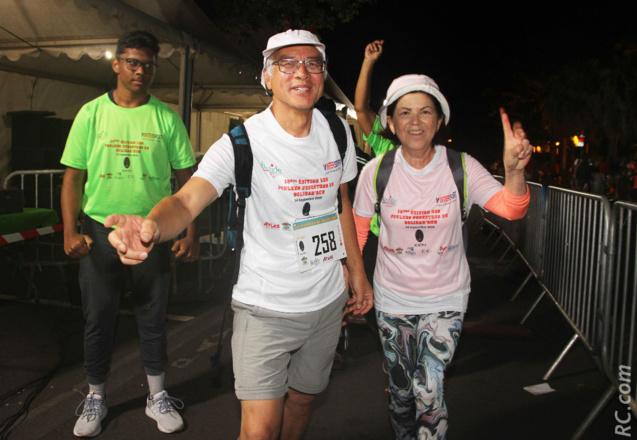 Michel  Chong Fa Sheng , président de Passion Rando-Reunion, toujours fidèle au rendez-vous