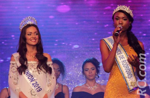 Anne Murielle Ravina, Miss Rodrigues, et Morgane Lebon, Miss Réunion 2019, se sont rencontrées au Tampon