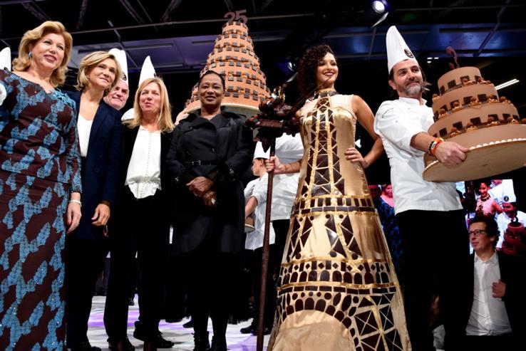 Salon du Chocolat 2019: Vaimalama Chaves, Miss France, a défilé...