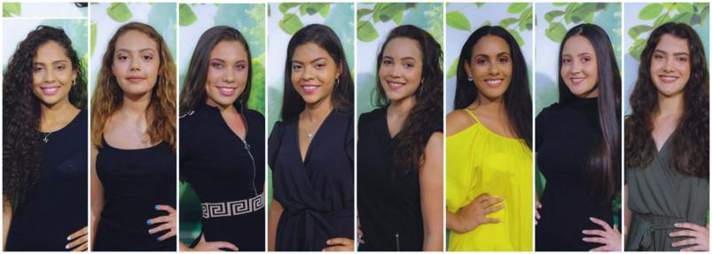 Les 8 candidates Miss Sain-Joseph 2019