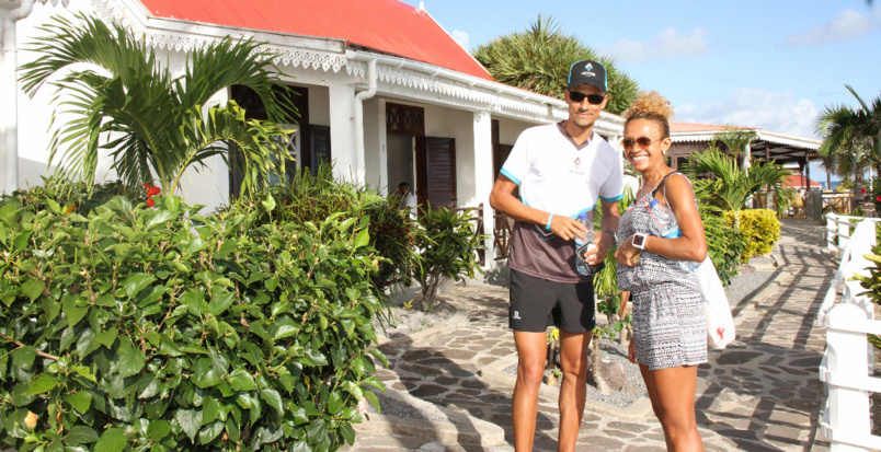 Frédéric Duchemann et Hortense  Bègue ont apprécié l'hôtel Morouk Ebony, nouveau partenaire du Trail de Rodrigues