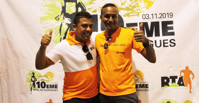 Damien Aullas, président de Rod Trail et Mickaël de l'équipe d'organisation