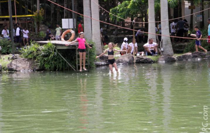 Un joli bassin pour se rafraîchir après la course