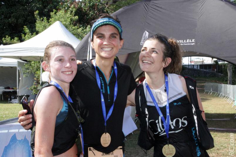 Jennifer Sauvage, Agathe Rémy et Louise Classeau, les trois premières femmes de la course
