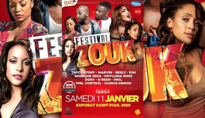 Festival Zouk samedi 11 janvier à Saint-Paul: à ne pas manquer!
