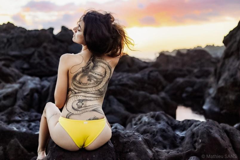 Tiphaine, 20 ans cette année, passionnée de tatouages