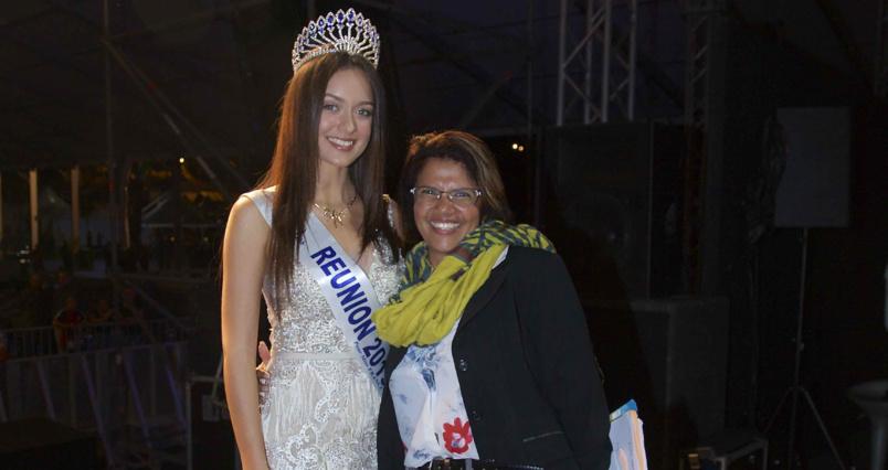 Morgane Lebon et Corinne ... Lebon! Aucun lien de parenté entre Miss Réunion et la responsable protocole de la Mairie du Tampon