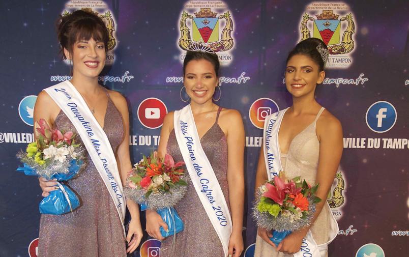 Les trois lauréates Miss Plaine des Cafres 2020
