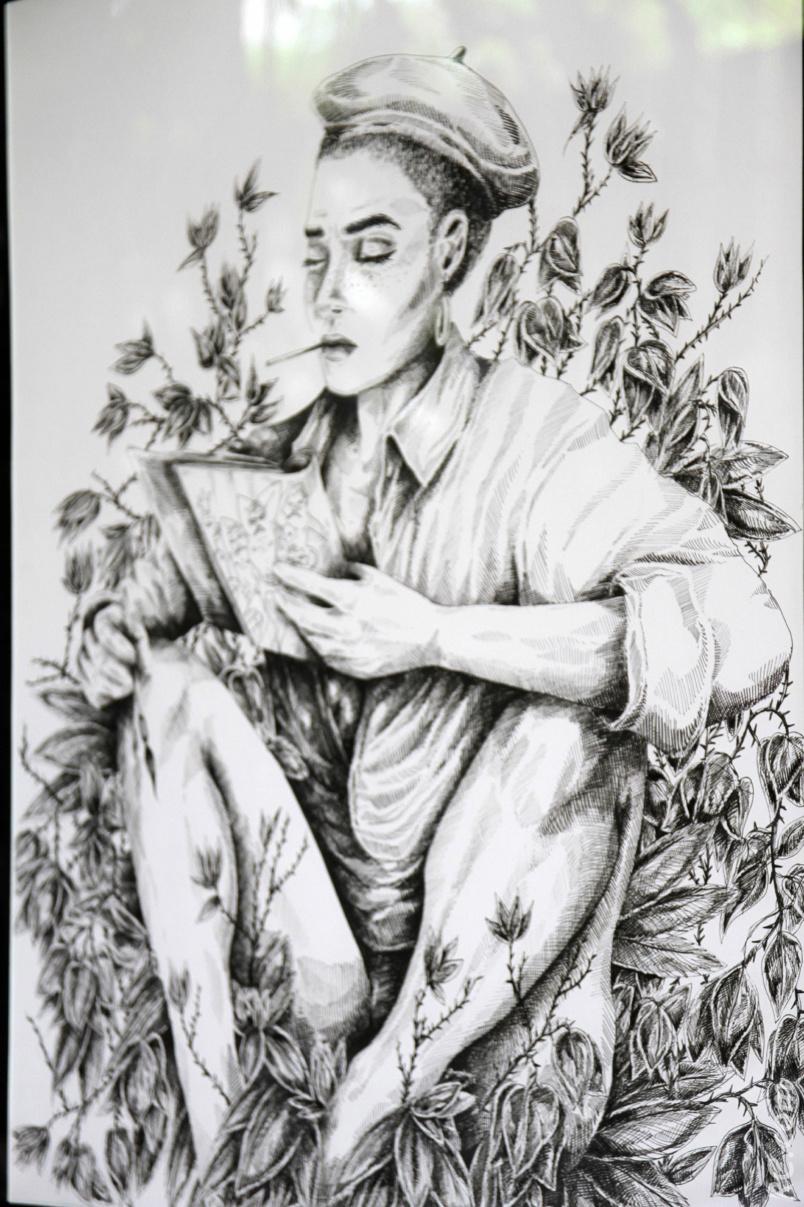 """Exposition: """"L'origine du monde"""" vu par Belly, qui milite contre les féminicides"""