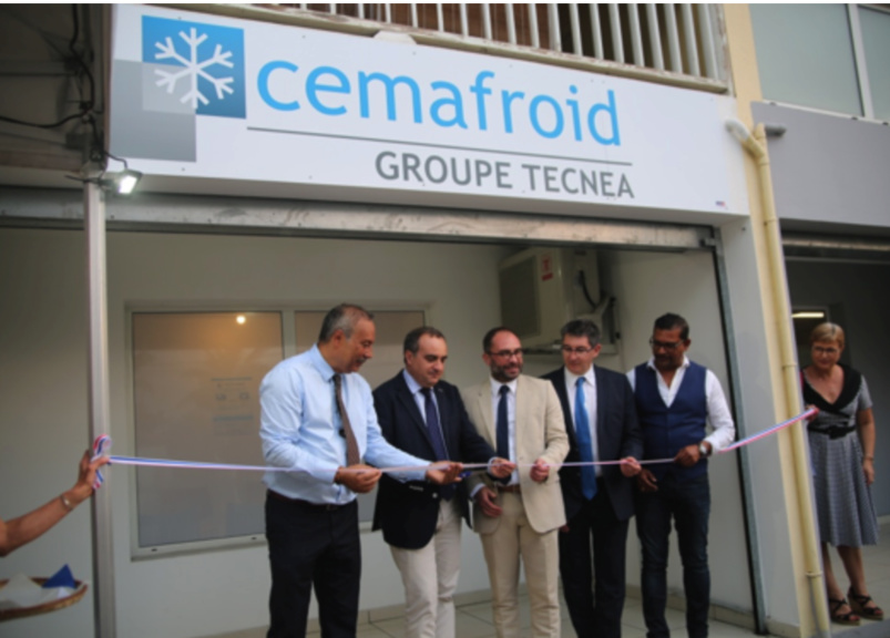 Inauguration de l'agence Cemafroid à Saint-Pierre