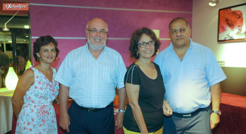 L'équipe du SICR: Valérie Chow-Ping-Mo, secrétaire générale, Frédéric Foucque, président, Christiane Albert, déléguée générale, et Arzou Mahamadaly, trésorier