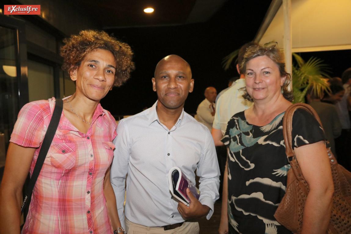 Estelle Kitegi, chargée de mission CFORM, Didier Goindaman-Minaty, conseiller entreprise Pôle Emploi, et Marie-Laure Morère, gérante CFORM