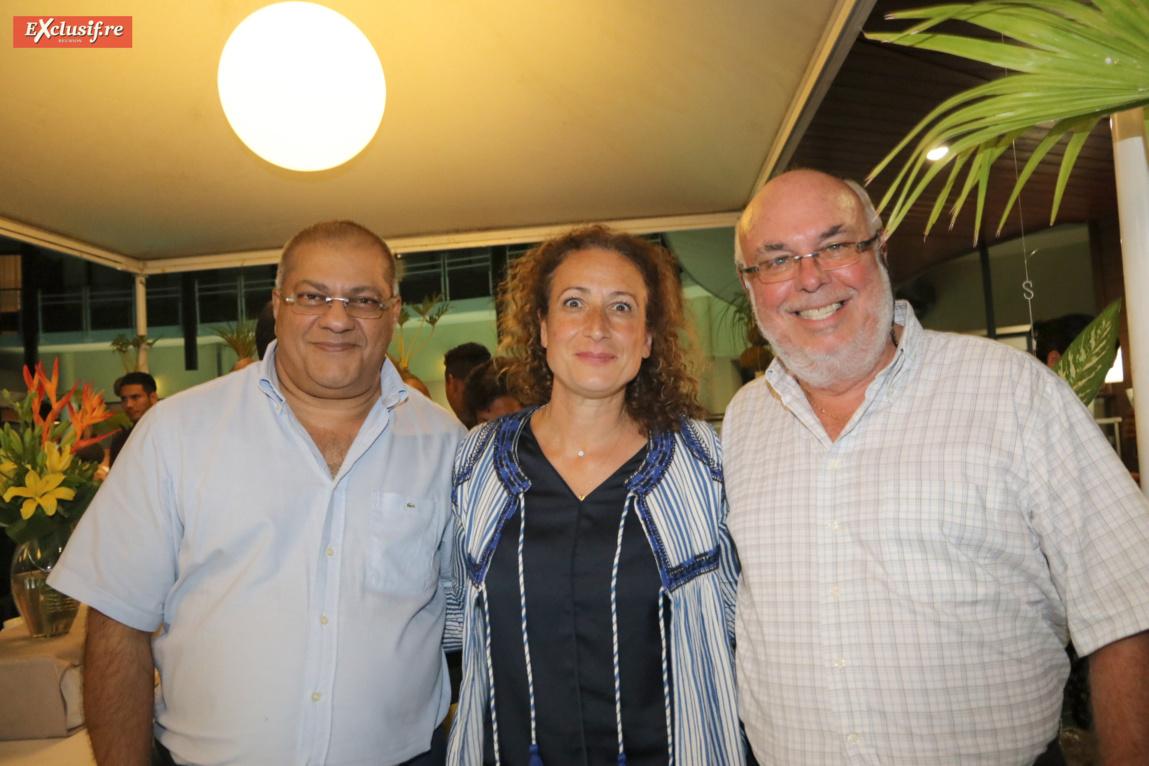 Arzou Mahamadaly, trésorier SICR, Annie Khayat-Tissier, avocate spécialisée en droit des affaires, et Frédéric Foucque, président du SICR