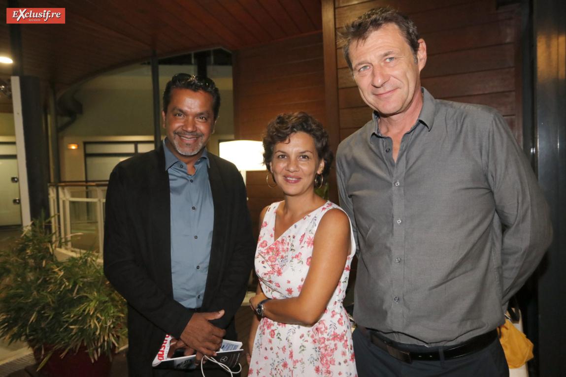 Anthony Tailamé, président association Green OI, Valérie Chow-Ping-Mo, secrétaire générale, et François Hacquin, directeur Opcalia