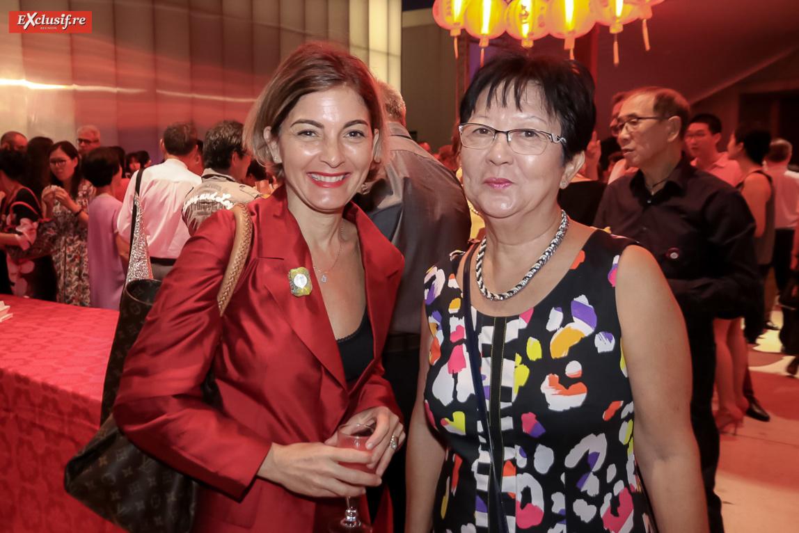 Anne Zattara-Gros, vice-présidente relations internationales et coopération régionale Université de La Réunion et Nicole Chon Nam, présidente Emmaüs Réunion