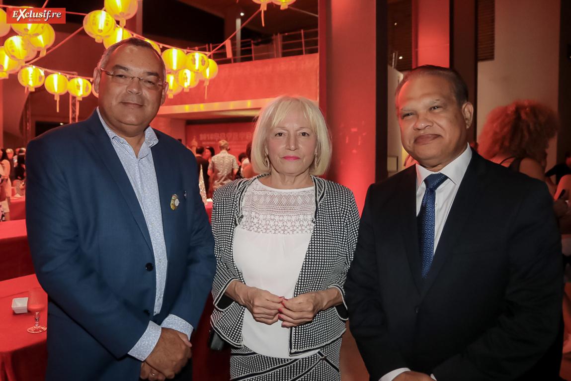 Bernard Picardo, président Chambre des Métiers et de l'Artisanat, Yvette et Yves Ferrière, vice-président de la Cinor