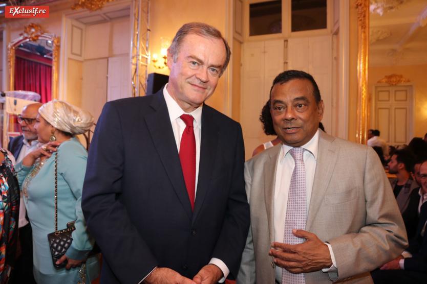 Amaury de Saint-Quentin, Préfet de La Réunion, et Ivan Collendavelloo, Premier Ministre adjoint de l'île Maurice