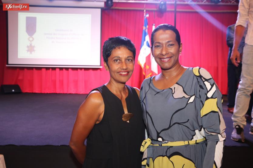 Ericka Bareigts, députée, et Nalini Véloupoulé-Merlo, adjointe au maire de Saint-Denis