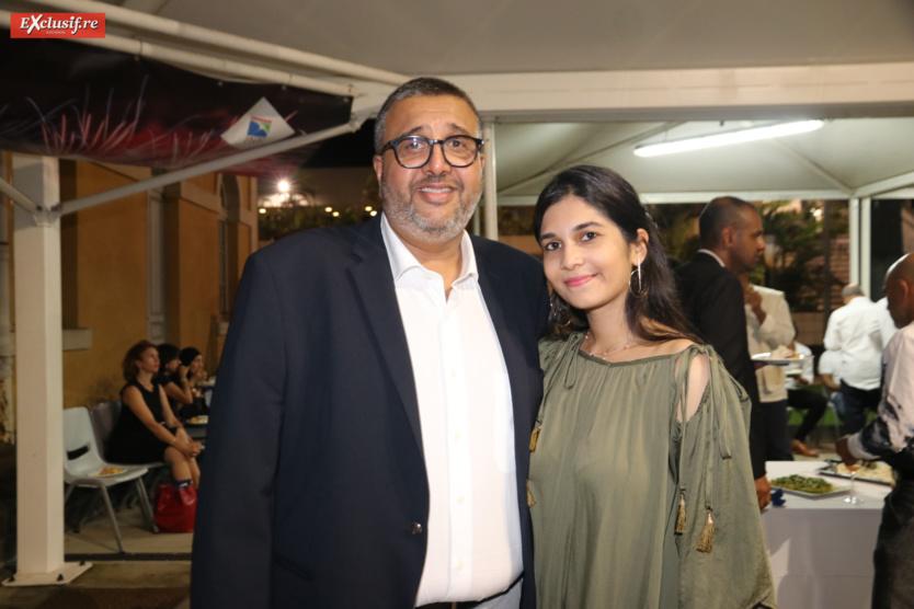 Haroun Gany, vice-président Chambre des Métiers, et sa fille Samia