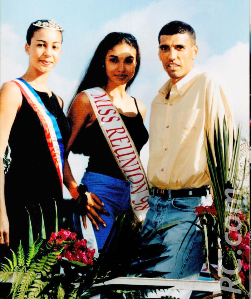 Jean-Louis Prianon et Angélique Marcel, Miss Réunion 1998