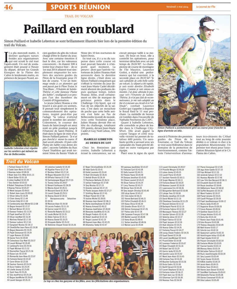 Trail du Volcan 2020: on marque le coup...
