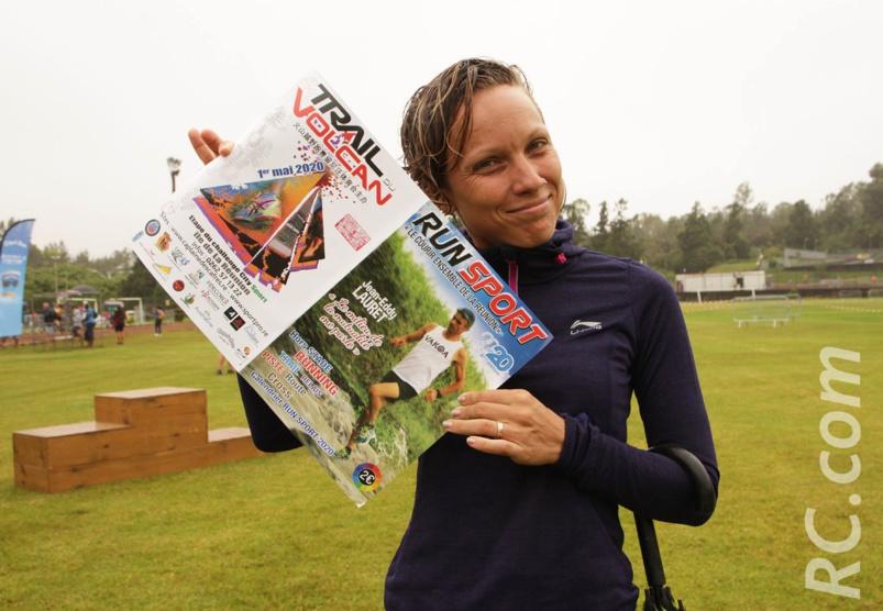 Sur le podium du Challenge City-Sport, Ingrid Mondia salue la sortie du magazine