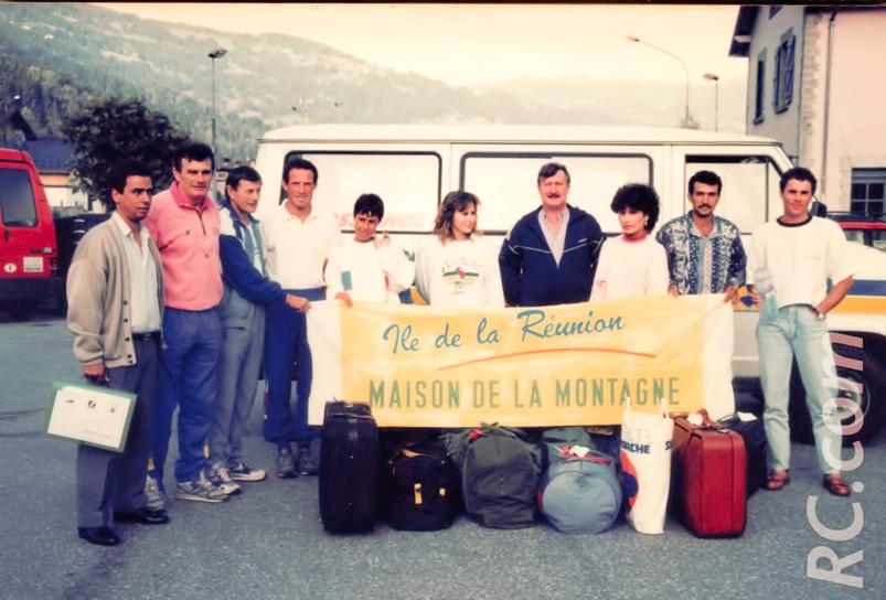 La délégation réunionnaise au Cross du Mont-Blanc, conduite par l'ancien maire Simon Lebreton