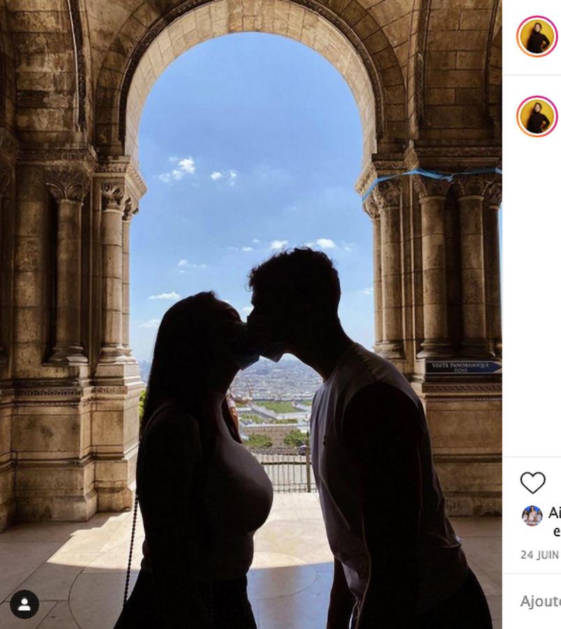 Avec son chéri, photo publiée sur Instagram en juin