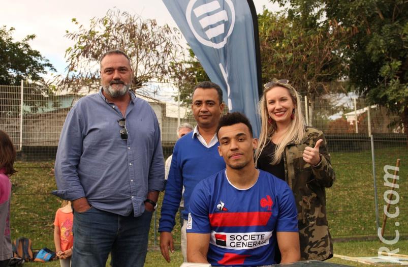 Equipe de France de Rugby à 7: Jordan Sepho a reçu la médaille de la Ville de l'Etang-Salé