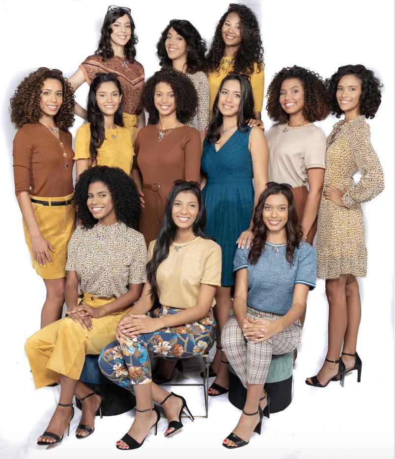 Les 12 candidates Miss Réunion 2020 (en tenue Orsay)