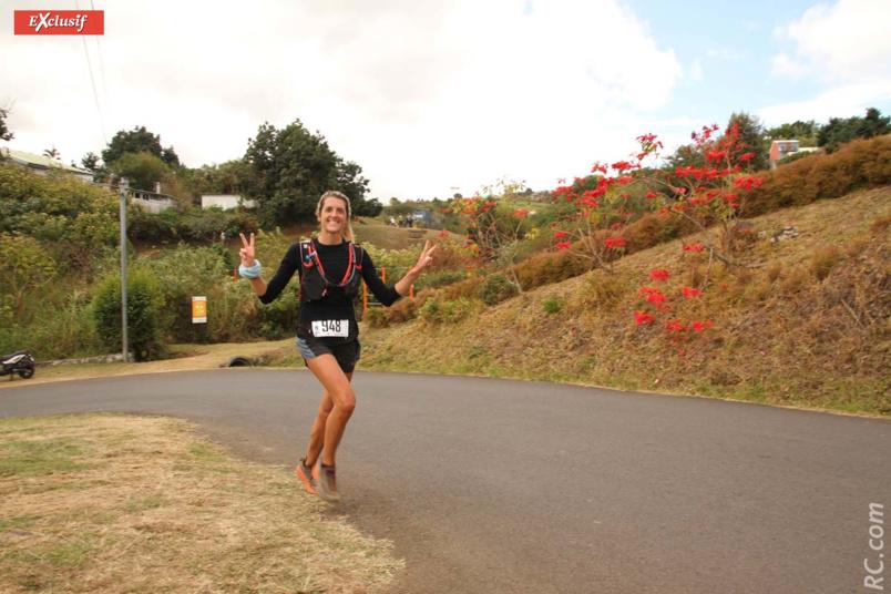 Amadine Dumas, 2ème féminine sur les 43 km