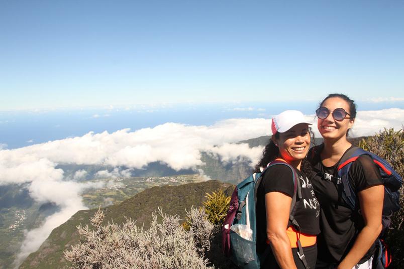 Lucia a fait découvrir à Héléna en vacances dans l'île, le point de vue du Morne de Langevin
