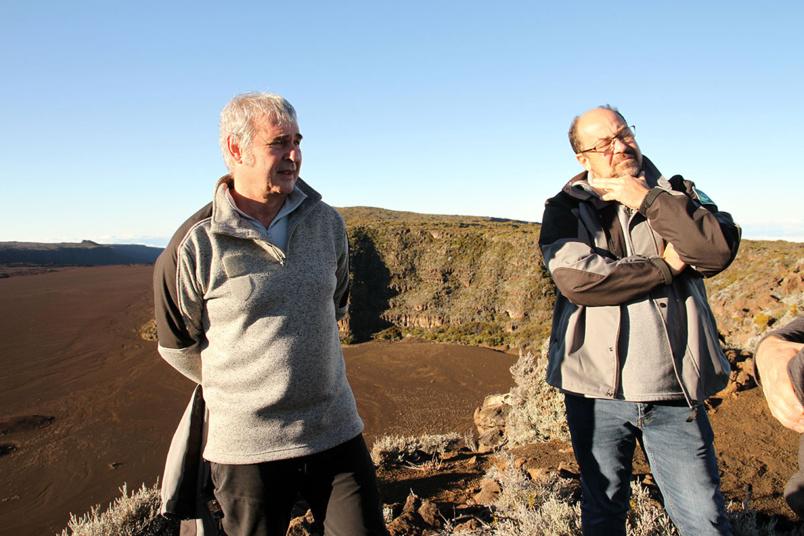 Jean-Philippe Delorme, directeur du Parc National de La Réunion, et son adjoint Paul Ferrand