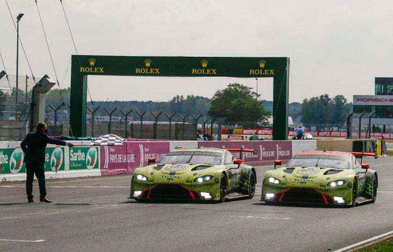 En LMGTE Pro, victoire d'Aston Martin Racing #97 (Aston Martin Vantage AMR) du trio Martin-Lynn-Tincknell