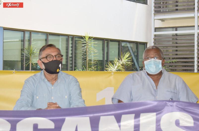 Gora Patel, directeur régional Réunion La 1ère, et André Latchoumane, président de l'ASA Réunion