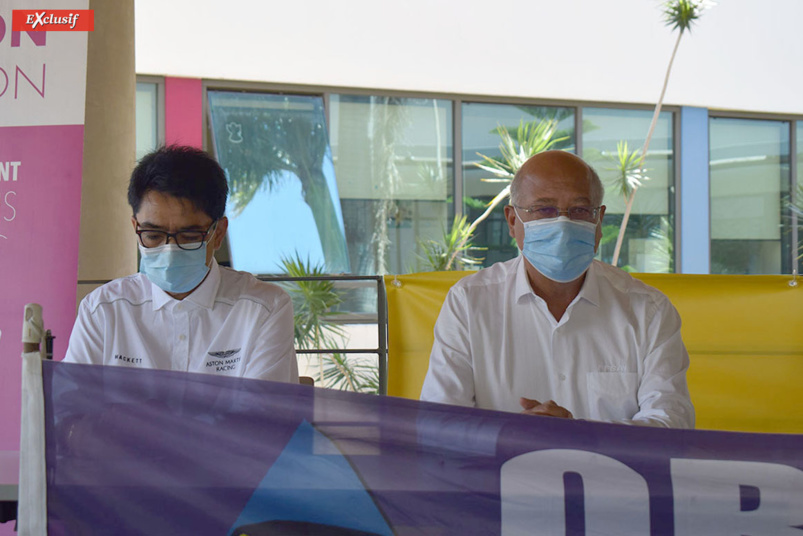 Mamisoa Rajoel et Denis Antou respectivement vice-président et président de la Ligue Réunionnaise de Sport Automobile
