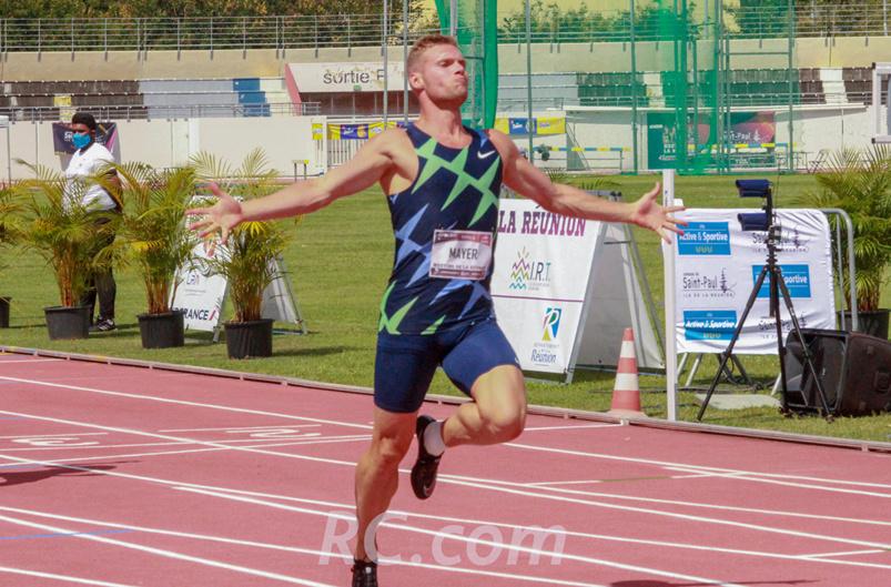 Kevin Mayer peut lever les bras, il a réussi son pari de se qualifier à La Réunion