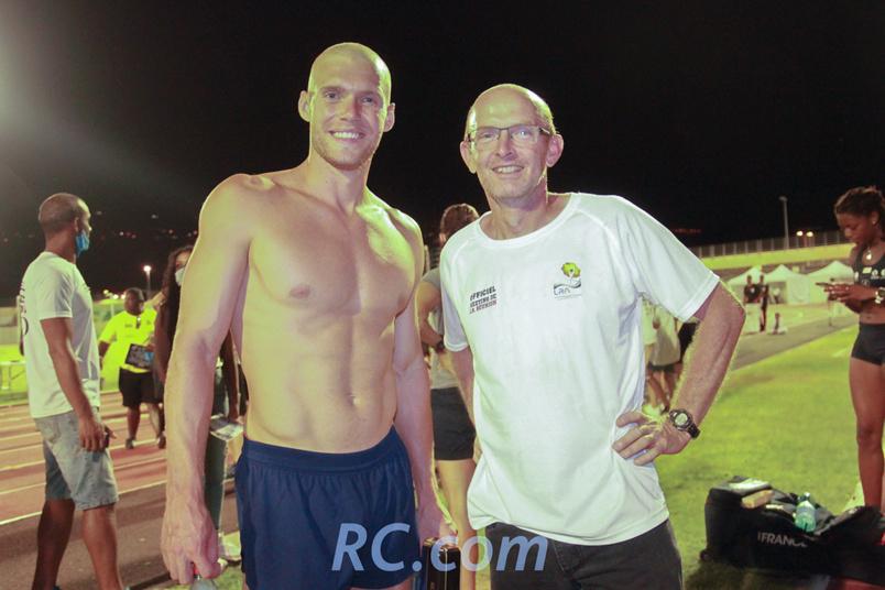 Kevin Mayer et Philippe Quest, directeur du meeting