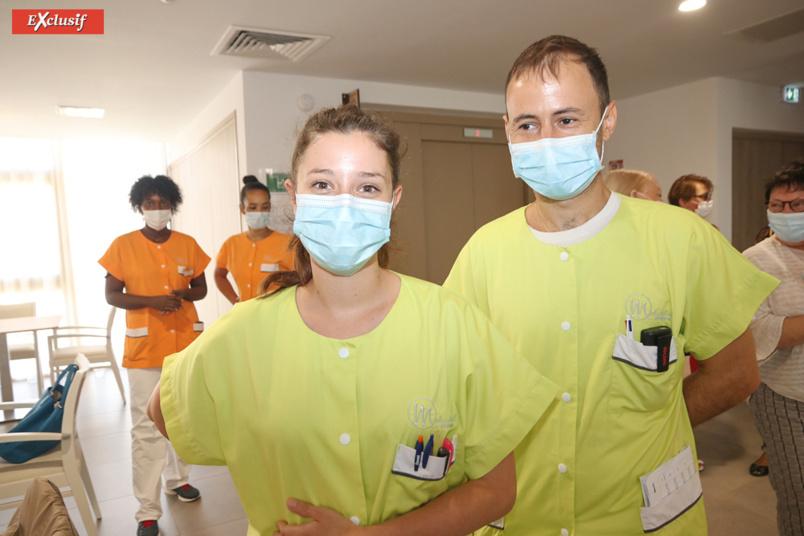 Michaël M. et Clémence D., infirmiers de l'EHPAD Aude