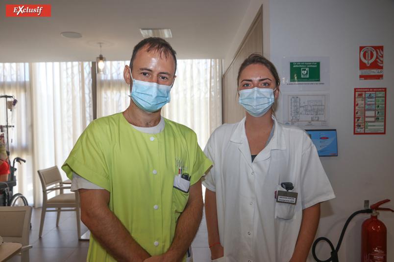 Michaël M., infirmier, et Meghan R., stagiaire enseignante Activité Physique Adaptée
