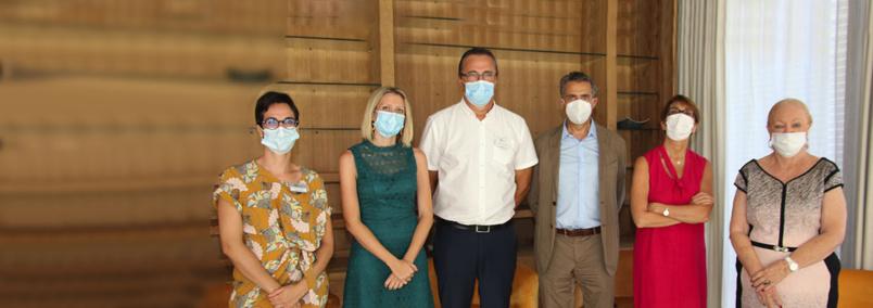 ARS Réunion: vaccination des personnes âgées à l'EHPAD Aude
