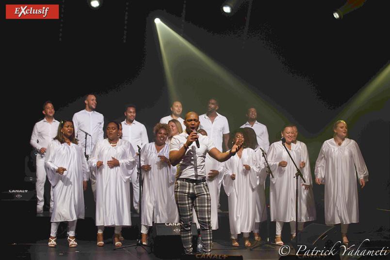 Koulèr Gospel a assuré la 1ère partie du concert et le final...