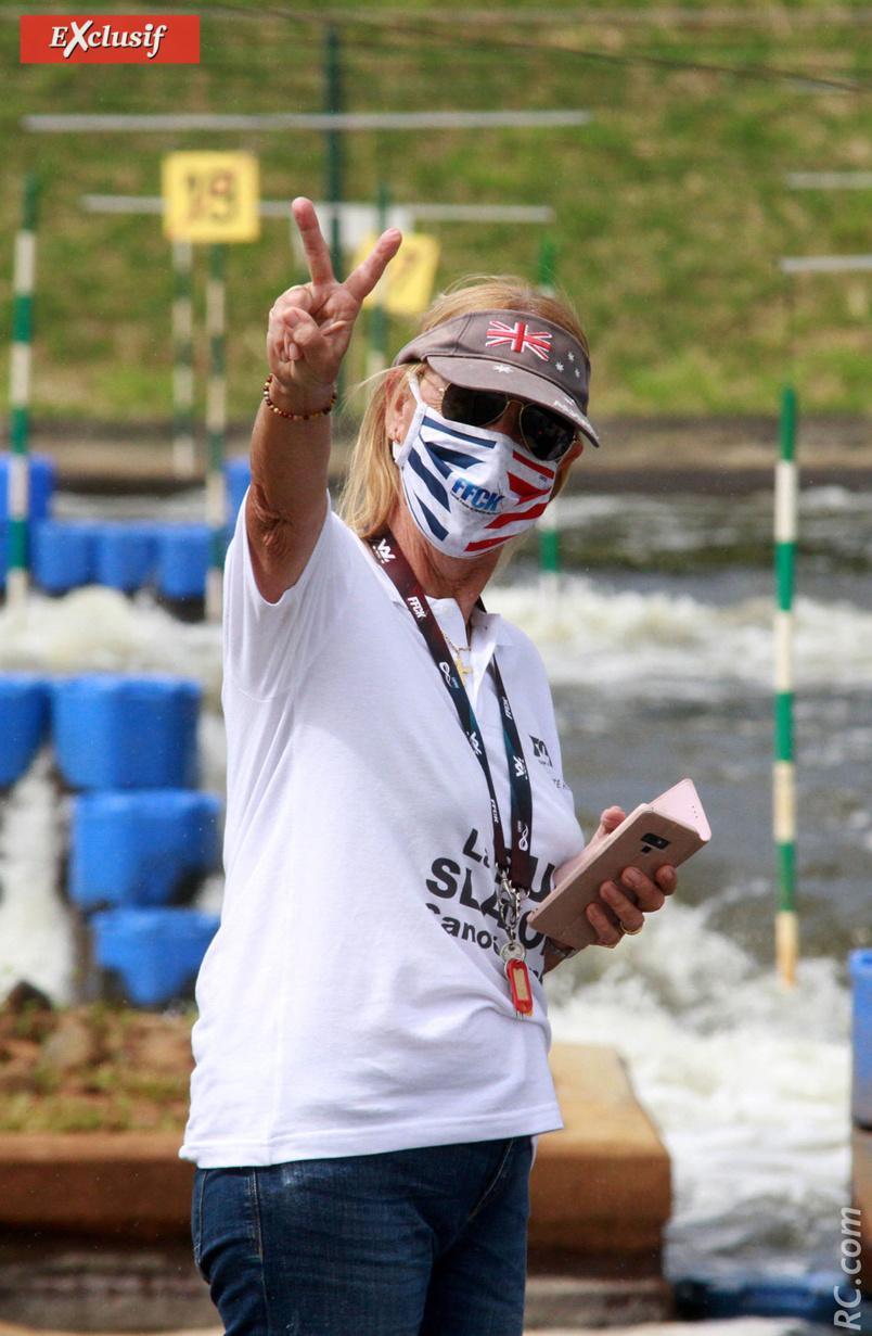 Le «V» de la victoire de Véronique Lagourgue, présidente du Comité Régional de Canoë-Kayak