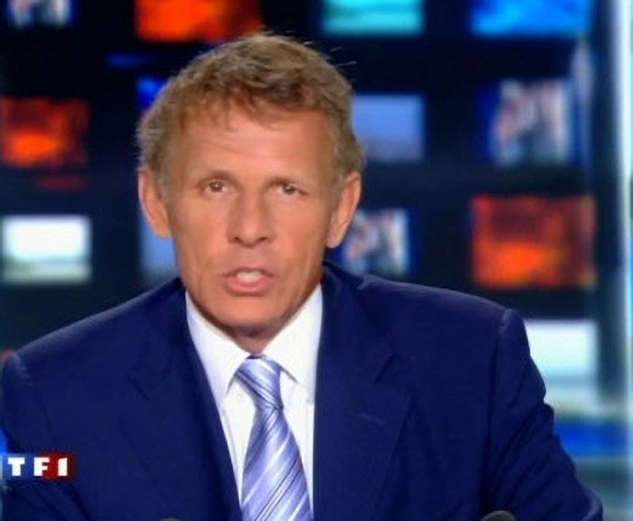 PPDA lorsqu'il présentait le JT (photo TF1)